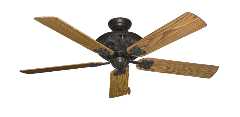 "Picture of Monarch Oil Rubbed Bronze with 56"" Oak Gloss Blades"