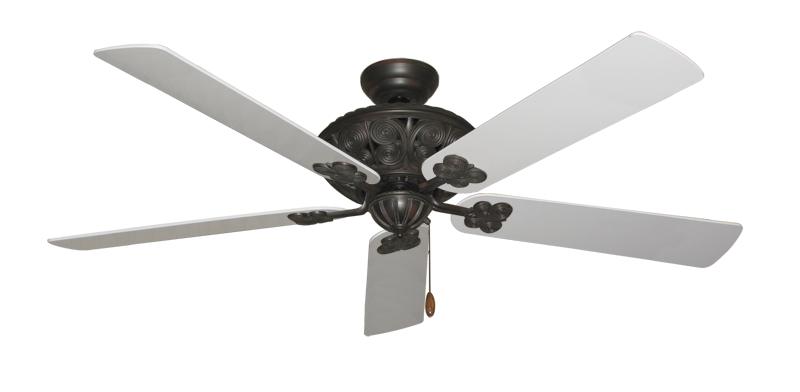 """Picture of Monarch Oil Rubbed Bronze with 60"""" Pure White Blades"""