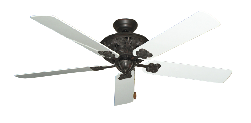 """Picture of Monarch Oil Rubbed Bronze with 60"""" Pure White Gloss Blades"""
