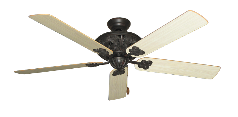 """Picture of Monarch Oil Rubbed Bronze with 60"""" Bleached Oak Gloss Blades"""