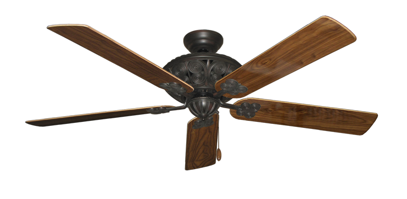 "Picture of Monarch Oil Rubbed Bronze with 60"" Walnut Gloss Blades"