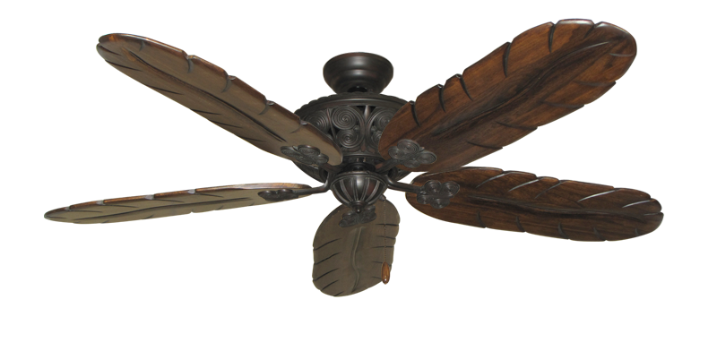 """Picture of Monarch Oil Rubbed Bronze with 58"""" Series 500 Arbor Dark Walnut Blades"""