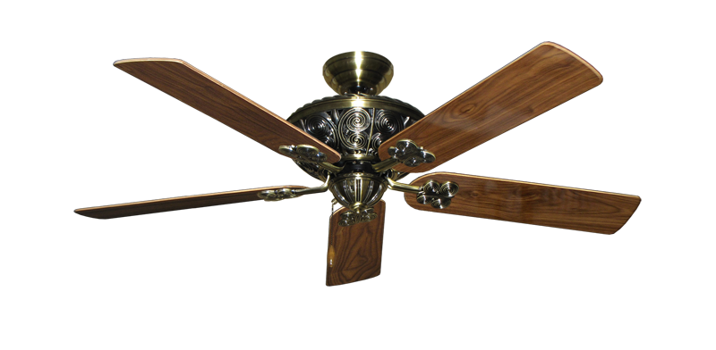 """Picture of Monarch Antique Brass with 52"""" Walnut Gloss Blades"""
