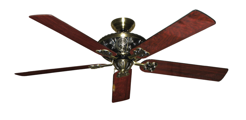 "Picture of Monarch Antique Brass with 60"" Cherrywood Gloss Blades"
