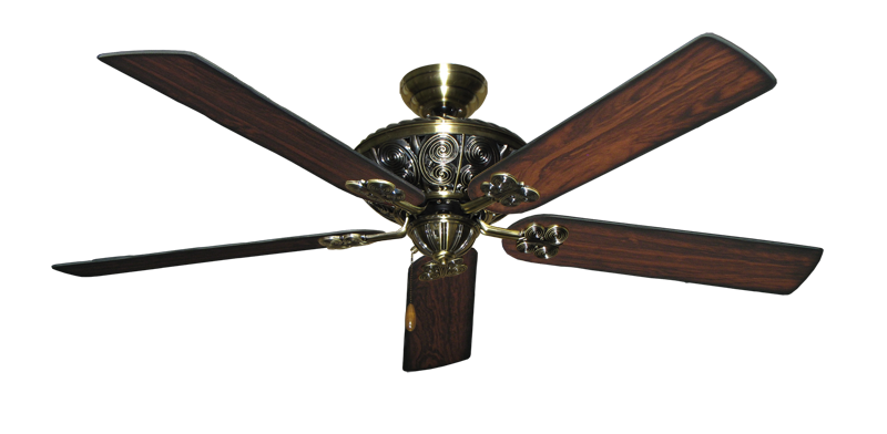 """Picture of Monarch Antique Brass with 60"""" Burnt Cherry Blades"""