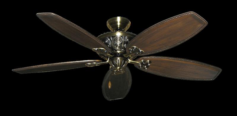 """Picture of Monarch Antique Brass with 60"""" Series 525 Arbor Dark Walnut Blades"""