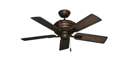 "Picture of Madeira Oil Rubbed Bronze with 44"" Distressed Hickory Blades"
