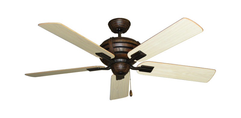 "Picture of Madeira Oil Rubbed Bronze with 52"" Bleached Oak Gloss Blades"