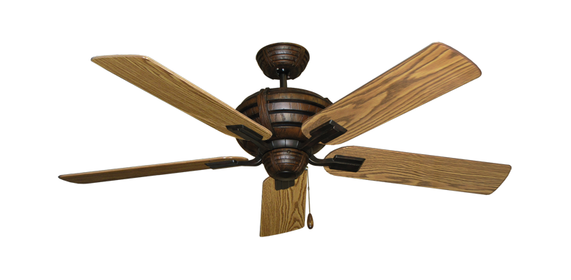 "Picture of Madeira Oil Rubbed Bronze with 52"" Oak Gloss Blades"