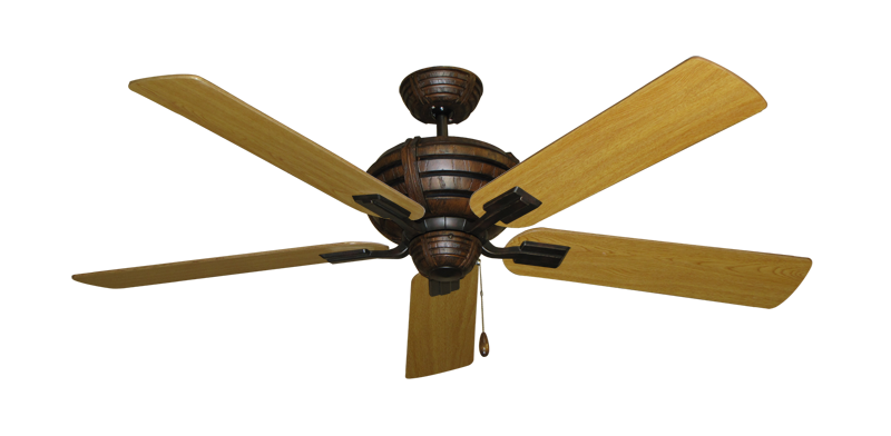 """Picture of Madeira Oil Rubbed Bronze with 56"""" Honey Oak Blades"""