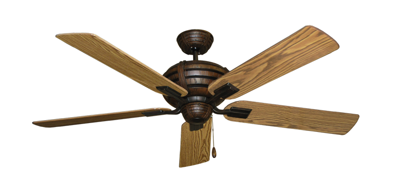 """Picture of Madeira Oil Rubbed Bronze with 56"""" Oak Gloss Blades"""