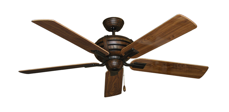 "Picture of Madeira Oil Rubbed Bronze with 56"" Walnut Gloss Blades"