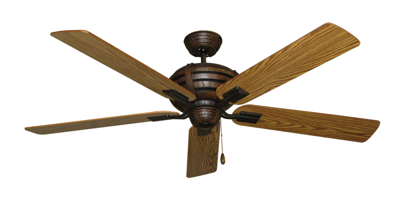 """Picture of Madeira Oil Rubbed Bronze with 60"""" Oak Gloss Blades"""
