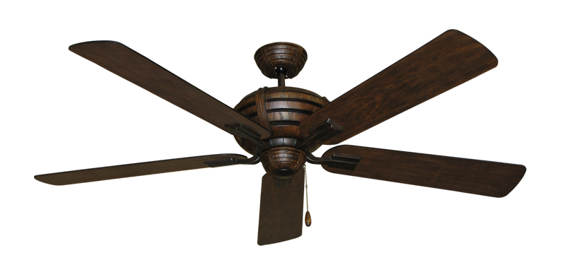 "Picture of Madeira Oil Rubbed Bronze with 60"" Distressed Hickory Blades"