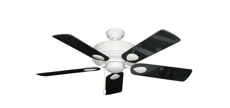 Futura ceiling fan in pure white with 44 black gloss blades dans futura pure white with 44 black gloss blades aloadofball Gallery
