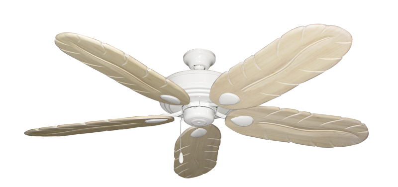 "Picture of Futura Pure White with 58"" Series 500 Arbor Whitewash Blades"