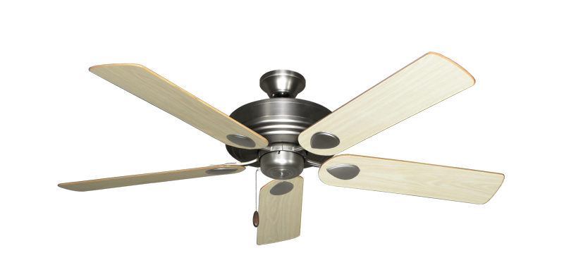 """Picture of Futura Satin Steel with 52"""" Bleached Oak Gloss Blades"""