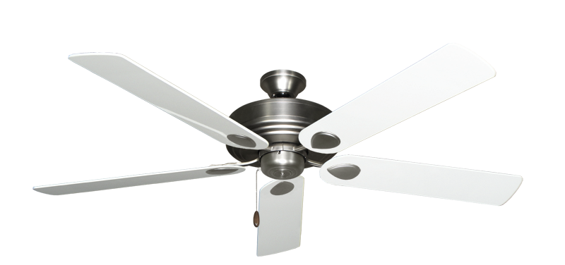 """Picture of Futura Satin Steel with 60"""" Pure White Gloss Blades"""