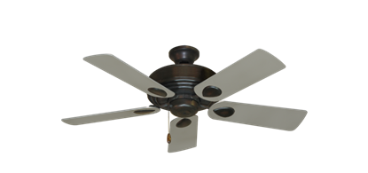 """Picture of Futura Oil Rubbed Bronze with 44"""" Satin Steel (painted) Blades"""
