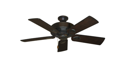"""Picture of Futura Oil Rubbed Bronze with 44"""" Distressed Walnut Blades"""