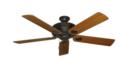 """Picture of Futura Oil Rubbed Bronze with 52"""" Teak Blades"""
