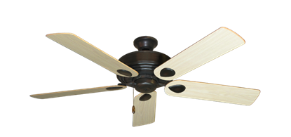 """Picture of Futura Oil Rubbed Bronze with 52"""" Bleached Oak Gloss Blades"""