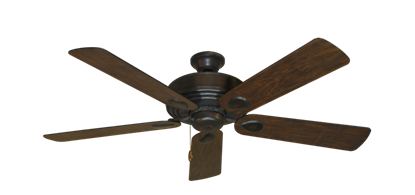 """Picture of Futura Oil Rubbed Bronze with 52"""" Distressed Walnut Blades"""