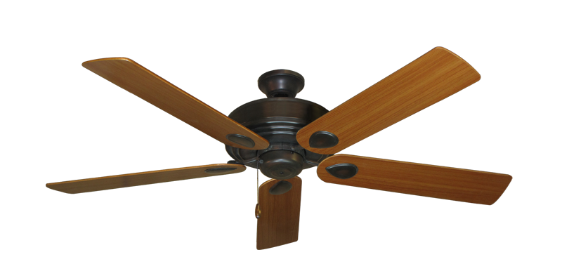 "Picture of Futura Oil Rubbed Bronze with 56"" Teak Blades"