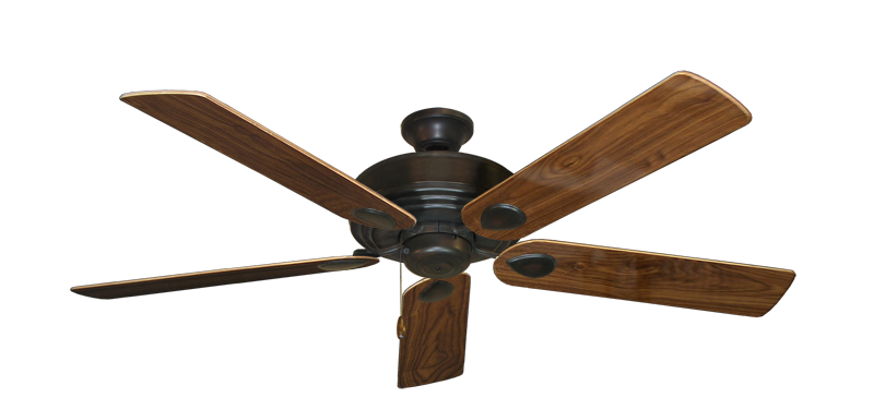 """Picture of Futura Oil Rubbed Bronze with 56"""" Walnut Gloss Blades"""