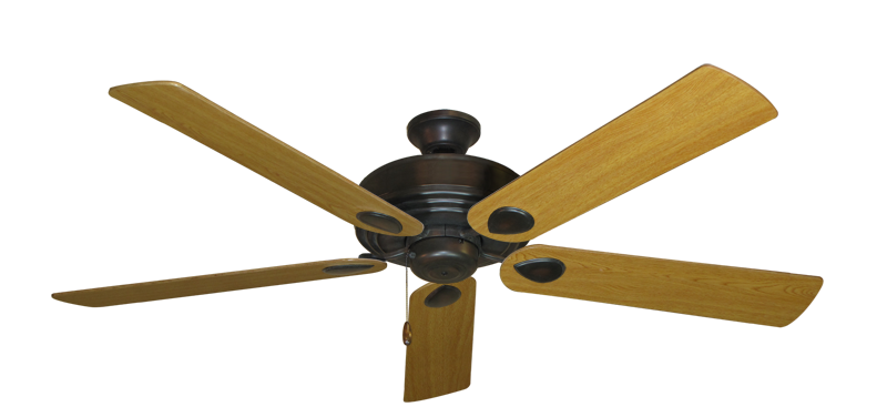 """Picture of Futura Oil Rubbed Bronze with 60"""" Honey Oak Blades"""