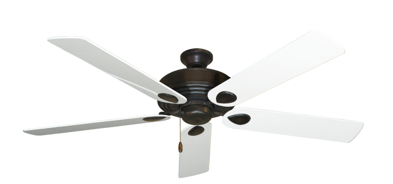 "Picture of Futura Oil Rubbed Bronze with 60"" Pure White Gloss Blades"
