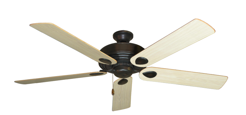 "Picture of Futura Oil Rubbed Bronze with 60"" Bleached Oak Gloss Blades"
