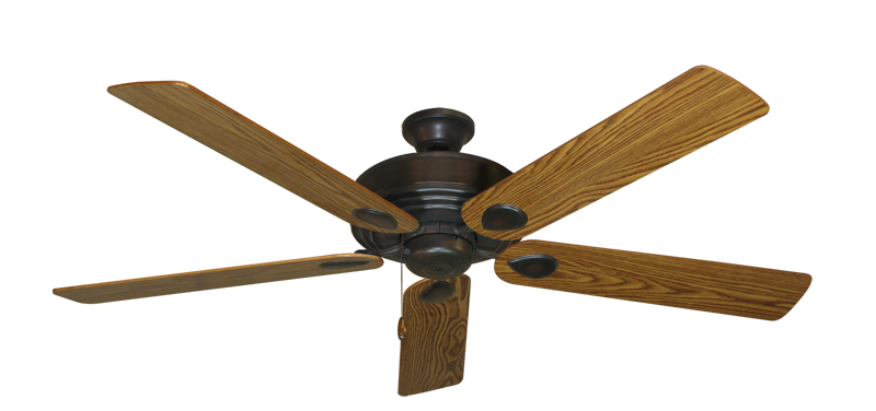 "Picture of Futura Oil Rubbed Bronze with 60"" Oak Gloss Blades"