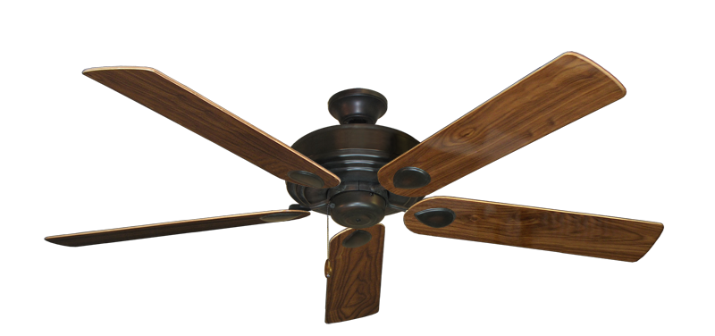 """Picture of Futura Oil Rubbed Bronze with 60"""" Walnut Gloss Blades"""