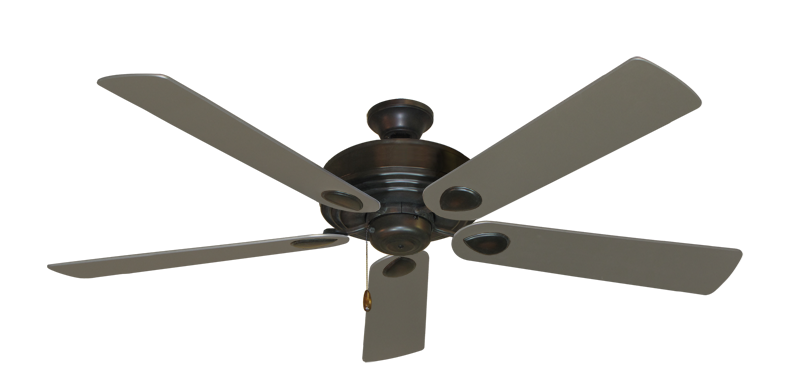 "Picture of Futura Oil Rubbed Bronze with 60"" Satin Steel (painted) Blades"