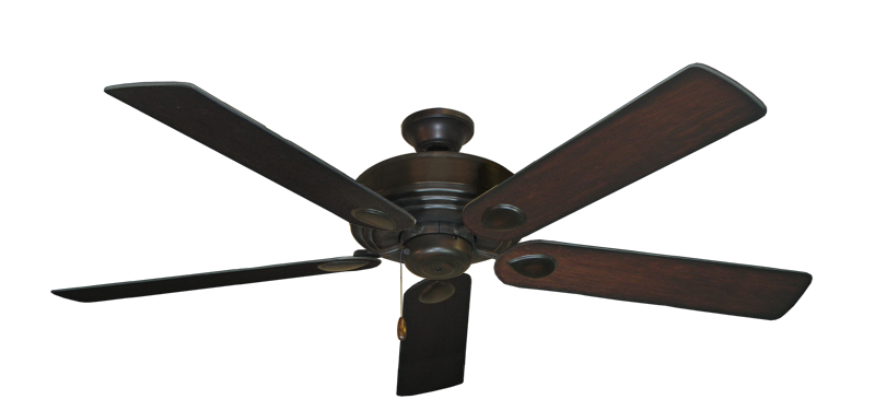 """Picture of Futura Oil Rubbed Bronze with 60"""" Distressed Cherry Blades"""