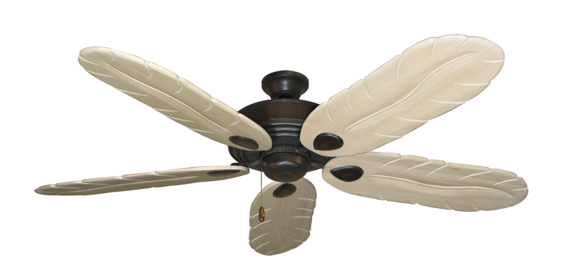 "Picture of Futura Oil Rubbed Bronze with 58"" Series 500 Arbor Whitewash Blades"