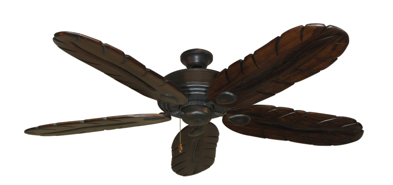 "Picture of Futura Oil Rubbed Bronze with 58"" Series 500 Arbor Dark Walnut Blades"