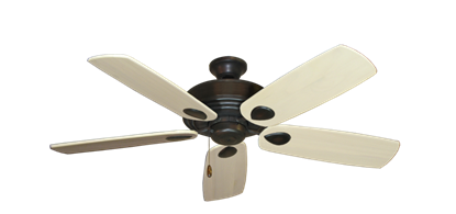 """Picture of Futura Oil Rubbed Bronze with 52"""" Series 710 Arbor Whitewash Blades"""