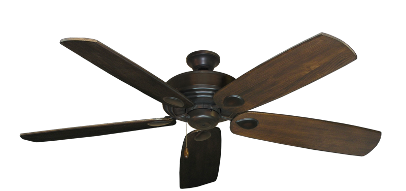 "Picture of Futura Oil Rubbed Bronze with 60"" Series 725 Arbor Dark Walnut Blades"