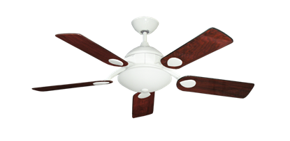 """Picture of Majestic Pure White with 44"""" Cherrywood Gloss Blades"""