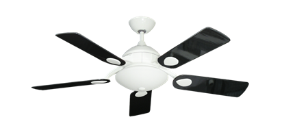 """Picture of Majestic Pure White with 44"""" Black Gloss Blades"""