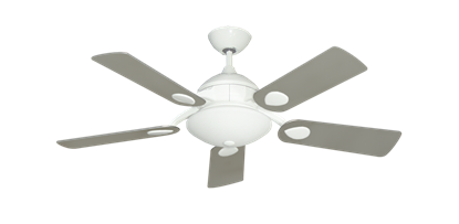 """Picture of Majestic Pure White with 44"""" Satin Steel (painted) Blades"""