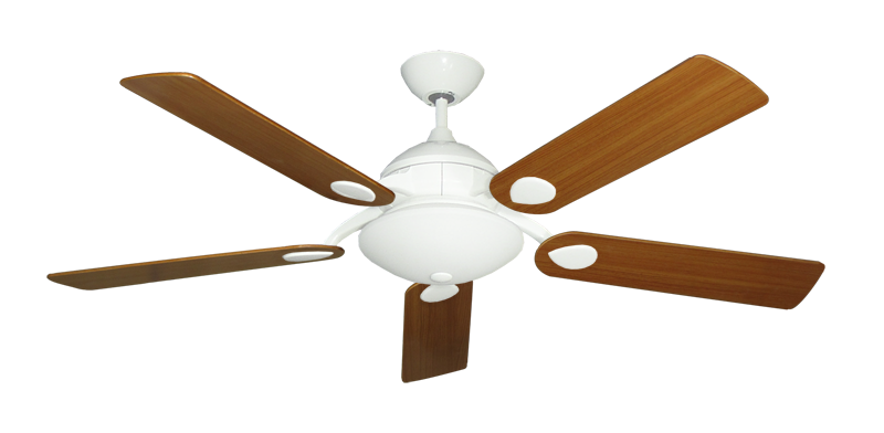 "Picture of Majestic Pure White with 52"" Teak Blades"