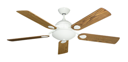 """Picture of Majestic Pure White with 52"""" Oak Gloss Blades"""