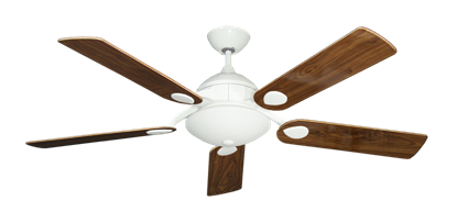 """Picture of Majestic Pure White with 52"""" Walnut Gloss Blades"""