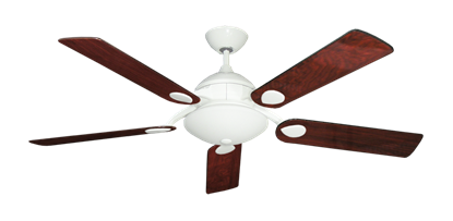 """Picture of Majestic Pure White with 52"""" Cherrywood Gloss Blades"""