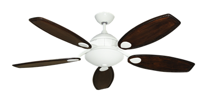 """Picture of Majestic Pure White with 52"""" Series 550 Arbor Whitewash Blades"""