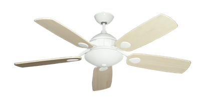 """Picture of Majestic Pure White with 52"""" Series 710 Arbor Whitewash Blades"""