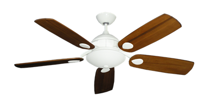 """Picture of Majestic Pure White with 52"""" Series 710 Arbor Oak Blades"""